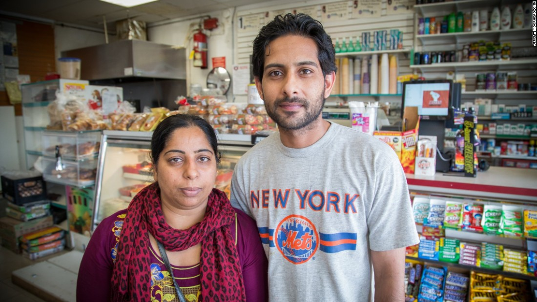 """Samaira Kouser & Muhammad Saqib, both originally from Pakistan, Kouser moved to the U.S. when she was 12 and Saqib is in the process of becoming a citizen. They have three daughters. Kouser will vote for the first time for Hillary Clinton. <br /><br />""""I love America. This is my country... When I was growing up and my mom told me, 'Let's go back to our country.' I said, 'No, I don't want to go back.'"""""""