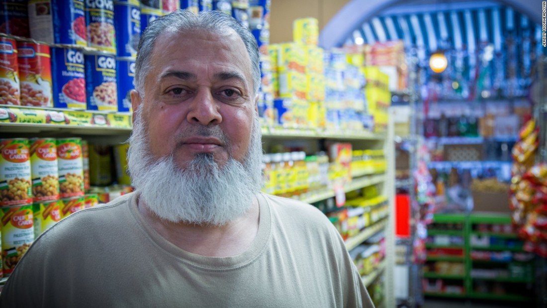 """Haji Khan, 56, born in Pakistan, came to the U.S. in 1980, has lived on Staten Island for around 15 years and has five children. A Democrat likely to vote for Hilary Clinton. <br /><br />""""America was beautiful like the song you hear. America was more than beautiful paradise when I came to this land... They don't care about my color. They don't care about my face, my color, my talk, my accent. They don't care. They just love me to talk to me. They feed me. It was welcome people, beautiful people."""""""