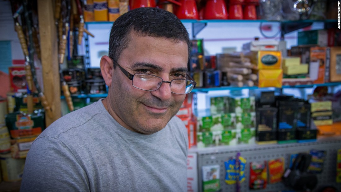 """Amin Shehadeh, 47, Palestinian American, came to the U.S. in 1991, lives on Staten Island. Has five children and is expecting his first grandchild. Will vote for the first time for Hillary Clinton. <br /><br />""""I don't worry about (Trump). I don't think he could do that, but he just talk, he just talk. I don't think he going to be President."""""""