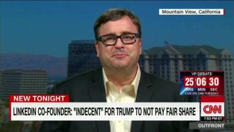 LinkedIn co-founder blasts Trump over tax returns - CNN Video