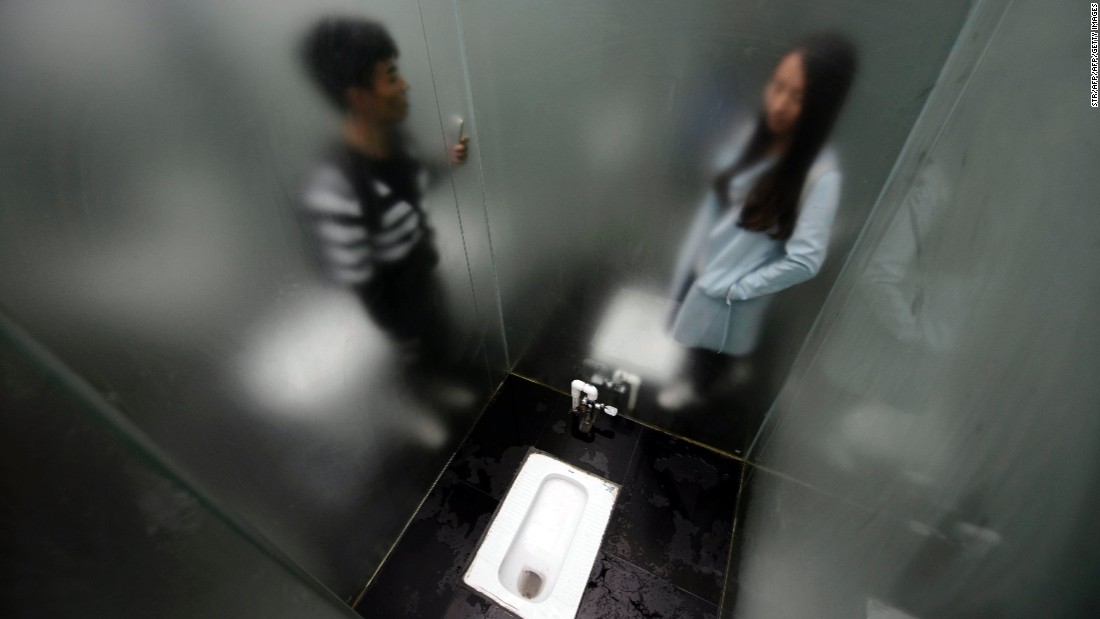 The bathroom opened on September 29 -- just in time for the week-long National Day Holiday.