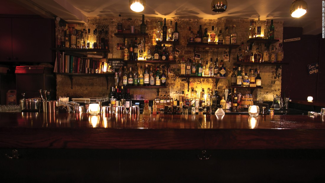 """A subterranean venue in London's ultra-hip Hoxton Square, Happiness Forgets is at number 10 on the list. It bills itself as """"high end cocktails"""" in a """"low rent basement."""""""