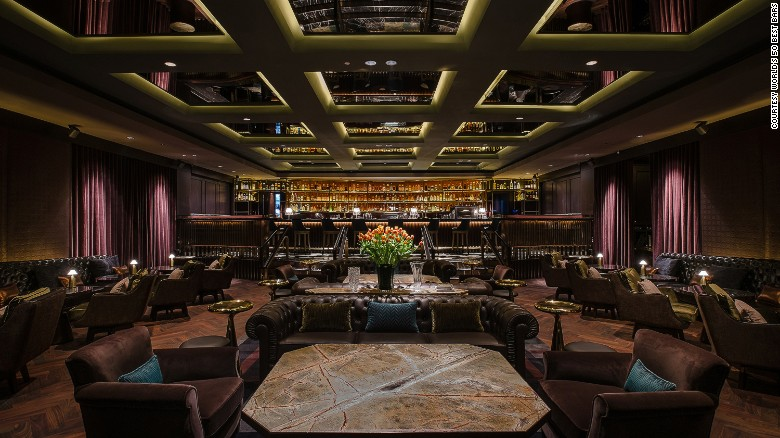 At number 11 is Singapore's Manhattan Bar, a plush venue within the city's Regent Hotel. Its cocktail menu includes, inevitably, a version of the classic Manhattan based around Michter's Single Barrel Rye and house-made cherry brandy.