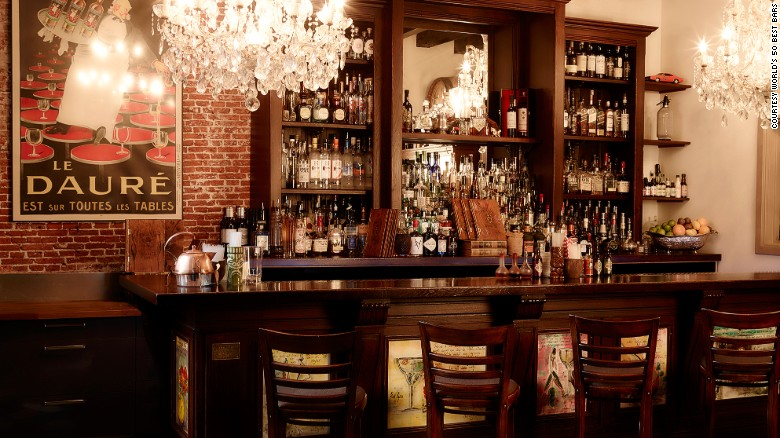 At number 18, Amsterdam's Tales & Spirits. Specialties of the house include Fallen Lady. A nod to the Dutch capital's famous red light district, it's a