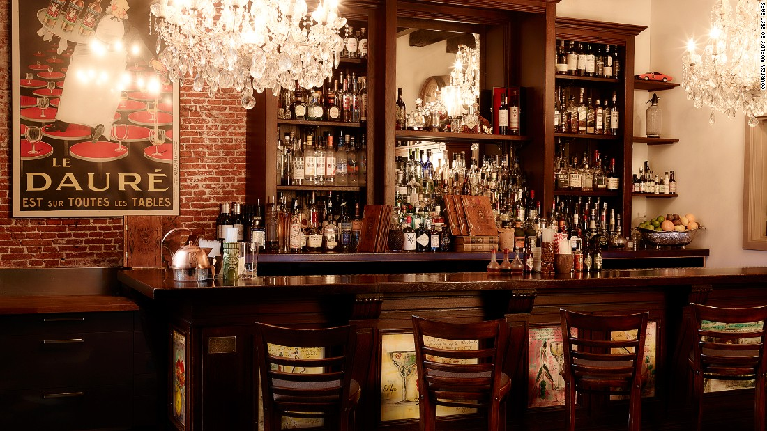 """At number 18, Amsterdam's Tales & Spirits. Specialties of the house include Fallen Lady. A nod to the Dutch capital's famous red light district, it's a """"sexy combination"""" that includes Ketel One vodka, Mozart dark chocolate liqueur and raspberry syrup."""