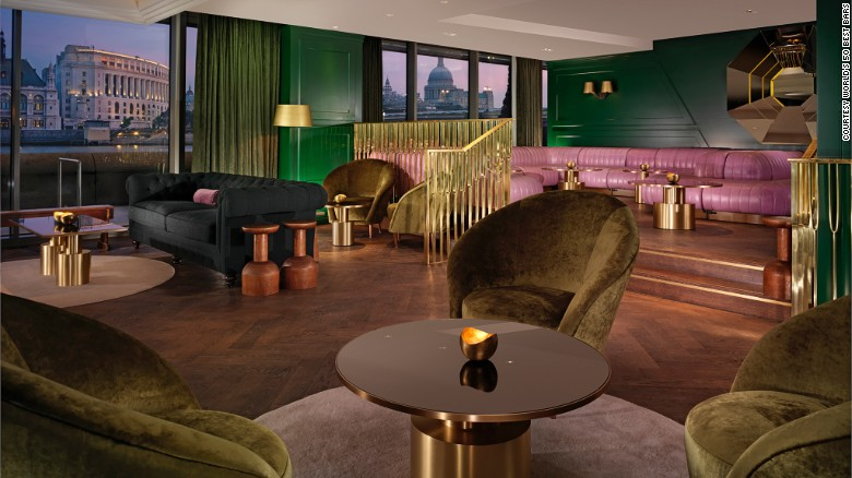 Located in the prosaically named Sea Containers House on London's South Bank, the Dandelyan makes number 3 on the list. Cocktails include Pinnacle Point Fizz, a blend of Olemco Blanco Tequila, blue corn sloe, ginger bitters, sour pineapple and soda.