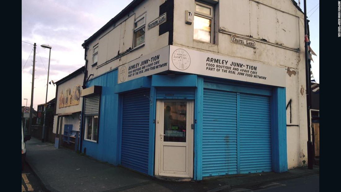 The RJFP was launched in 2013 by chef Adam Smith, beginning with the 'Armley Junk-tion' cafe in Leeds, serving meals using ingredients recovered from supermarket trash cans.