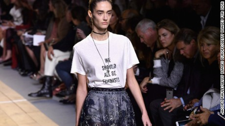 PARIS, FRANCE - SEPTEMBER 30:  A model walks the runway during the Christian Dior show as part of the Paris Fashion Week Womenswear  Spring/Summer 2017  on September 30, 2016 in Paris, France.  (Photo by Jacopo Raule/Getty Images For Dior)