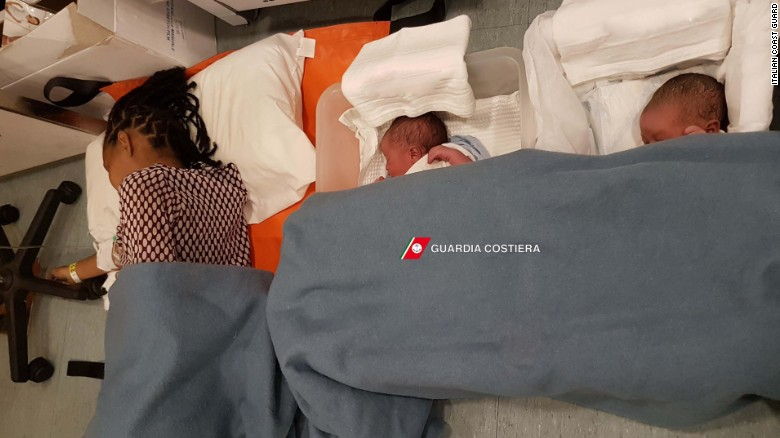 Migrant mothers give birth on Italian rescue ship