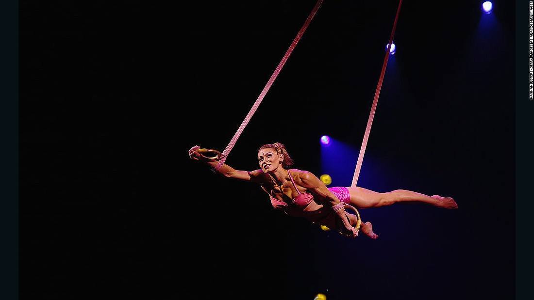 Award-winning production Totem traces the journey of the human species from its amphibian state to its ultimate desire to fly.