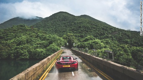 This narrow stretch of Tai Tam Road leads into the lush mountains of Shek O.