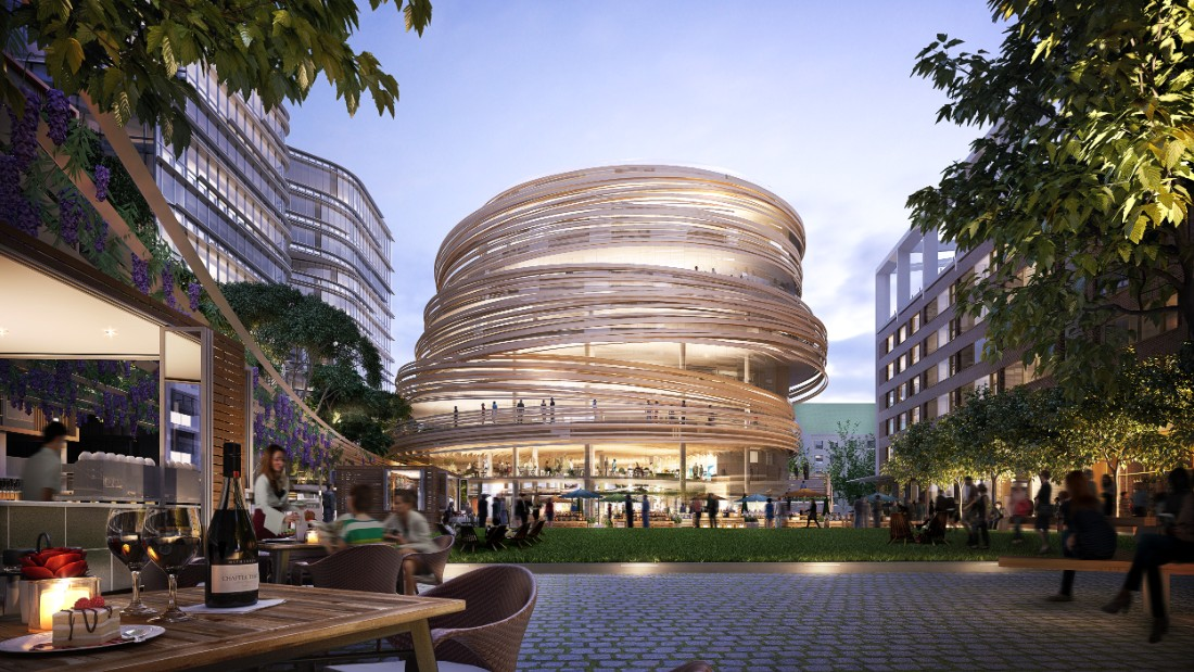 Kuma revealed his plans for this Sydney building earlier this year. It will feature a futuristic curving timber exterior.