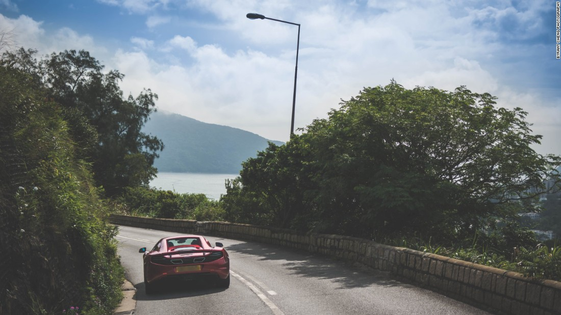 "Desmund, an auto enthusiast who knows the road to Shek O by heart, says the scenery here is ""almost un-Hong-Kong-like."""