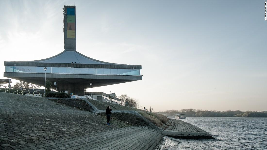 Sport center in Belgrade, Serbia. Built between 1973-75.