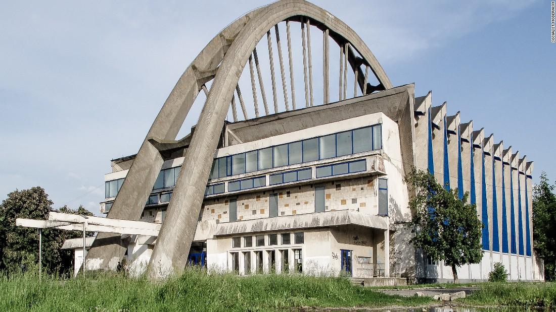 Bacau Sports Hall, Bacau, Romania, built between 1972-75.