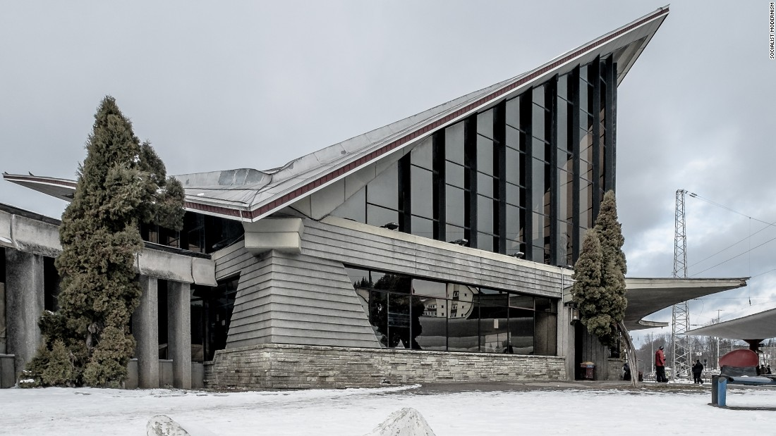 Predeal railway station, Predeal, Romania, built 1969.