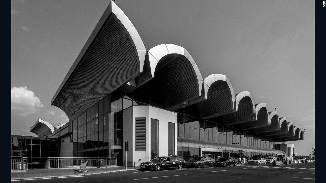 Otopeni Airport, Bucharest, Romania.