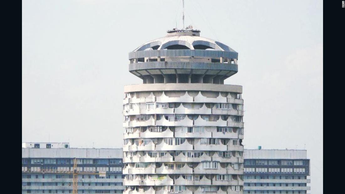Romanita collective housing tower, Chisianu, Moldova, built between 1978 and 1986.