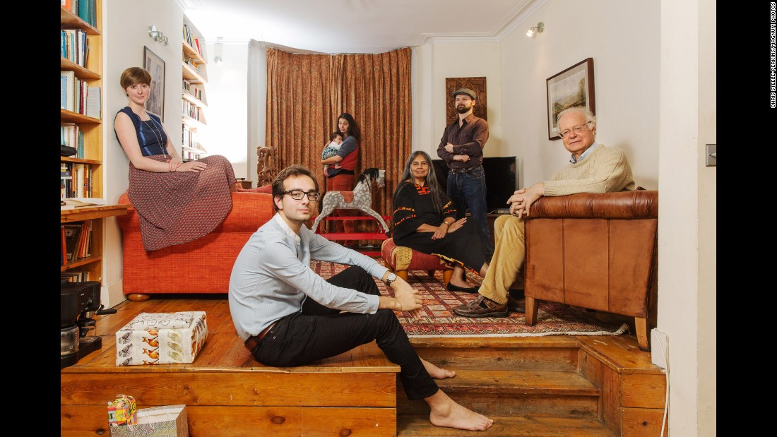 Shamshad Jafferji Cockcroft, third from right, is from Tanzania. Her photo includes her husband Laurence, right, as well as children, in-laws and one grandchild.