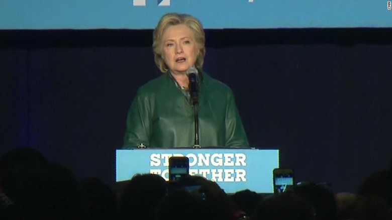 hillary clinton rally pence cant defend trump impossible sot _00012030