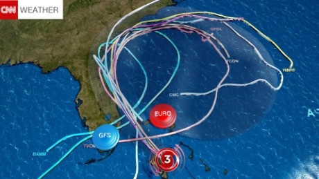 Some forecast models show Hurricane Matthew spinning back towards Florida early next week.