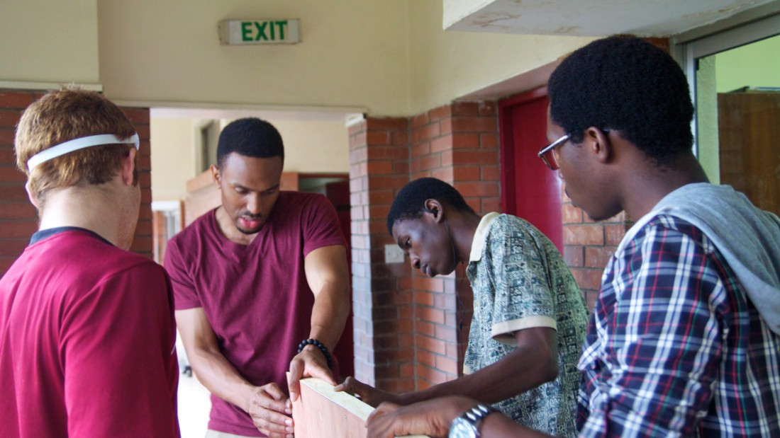 Ukwuani worked with students of the robotics program, where they learned to build and create with mentors from MIT.