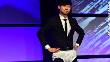 Speakers don't usually open speeches in their underwear, but Darren Tay made it work to become the 2016 Toastmasters World Champion.