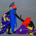 Eddy Kamuanga Ilunga False memories, 2016 oil and acrylic on canvas 200cm x 200cm, Image courtesy October Gallery, London