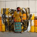 Serge Attukwei Clottey and GoLokal, My Mother's Wardrobe, performance at Gallery 1957, 6 March 2016, courtesy the artist and Gallery 1957, photo by Nii Odzenma (14)