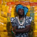 Serge Attukwei Clottey and GoLokal, My Mother's Wardrobe, performance at Gallery 1957, 6 March 2016, courtesy the artist and Gallery 1957, photo by Nii Odzenma (25)