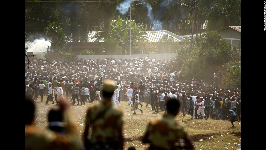 """More than 52 people were killed in a stampede after police fired warning shots at """"troublemakers"""" during <a href=""""https://www.cnn.com/2016/10/03/africa/ethiopia-oromo-deaths/index.html"""" target=""""_blank"""">a holy festival in Bishoftu, Ethiopia,</a> Communications Minister Getachew Reda said on Sunday, October 2. Ethiopia's opposition party disputed that account, saying that police fired live bullets into the crowd and as many as 120 people were killed."""