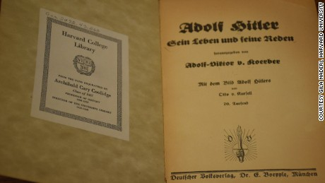 """The first page of Victor von Koerber's book titled """"Adolf Hitler: His Life and His Speeches,"""" now thought to have been written by Hitler himself."""