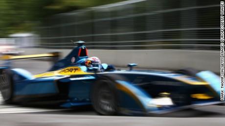 Renault's Sebastien Buemi racing around London's Battersea Park during season one.