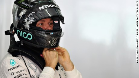 KUALA LUMPUR, MALAYSIA - OCTOBER 01:  Nico Rosberg of Germany and Mercedes GP gets ready in the garage during final practice for the Malaysia Formula One Grand Prix at Sepang Circuit on October 1, 2016 in Kuala Lumpur, Malaysia.  (Photo by Mark Thompson/Getty Images)