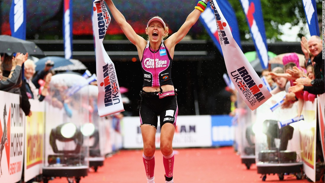 Gossage says in her athletic life, she chooses to suffer while her cancer patients are suffering without a choice.