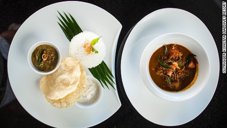 Curry dishes are usually accompanied with roshi -- a version of India's flattened bread.