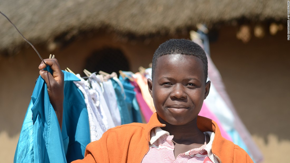 Orphaned at 15 and forced to drop out of school, Melissa, 17, busies herself taking care of the household. According to Plan International, all Melissa dreams of is returning to school.