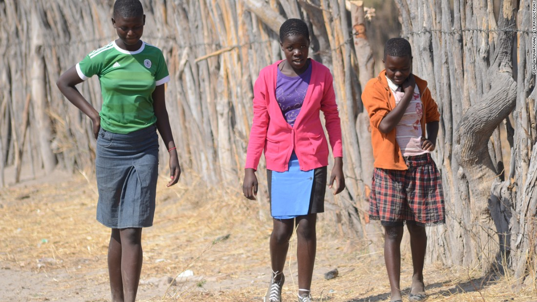 To pass the time, Melissa plays netball with other girls who no longer go to school. According to Plan, there are hundreds of Zimbabwean girls out of school living unfulfilled lives.