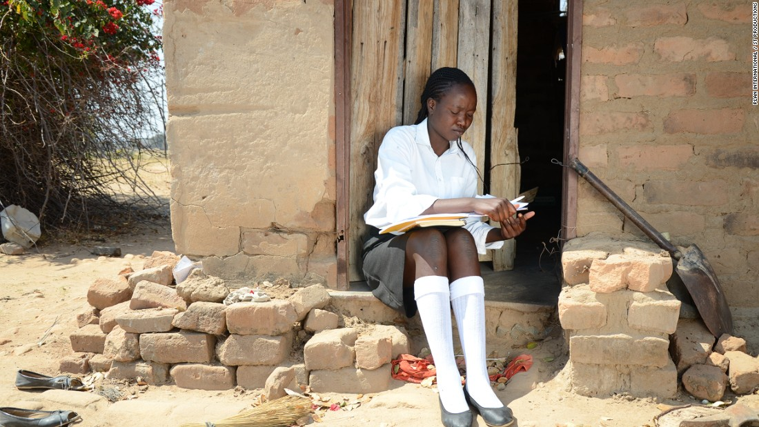 """Siphethangani, 18, pictured, finished secondary (high) school with flying colors and is now doing her A-Levels (college exams). """"I love school because that's the foundation of a good life,"""" she tells the researchers. But life looks very different for some girls. From poverty to child marriage, there are an array of reasons why many young Zimbabwean women drop out of school. These are their stories, as told to Plan International. <br />"""