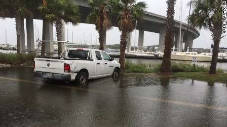 Some minor flooding in Charleston.