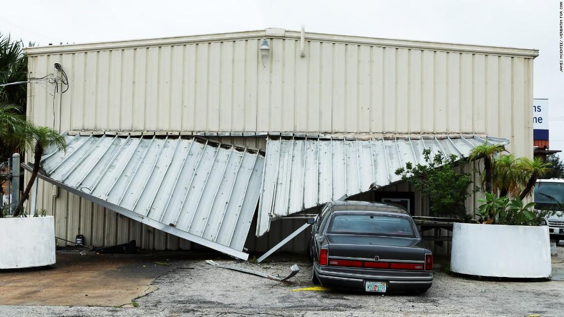Damage in Cocoa Beach.