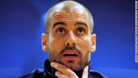 Guardiola is now coaching his third major European club.