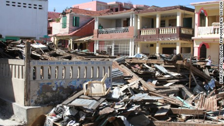 Hurricane Matthew reduced buildings to debris throughout Jeremie, west Haiti.