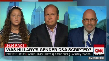 Teenaged Clinton questioner: not staged by campaign_00020205