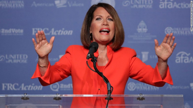 Former U.S. member of congress Michele Bachmann (R-N) addresses the Values Voter Summit at the Omni Shoreham September 9, 2016 in Washington, DC.