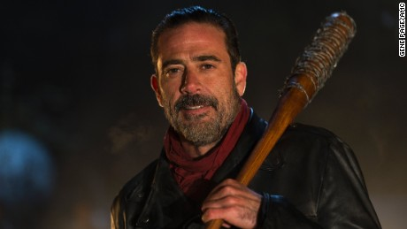 Jeffrey Dean Morgan as Negan in the Season 6 finale of 'The Walking Dead.'