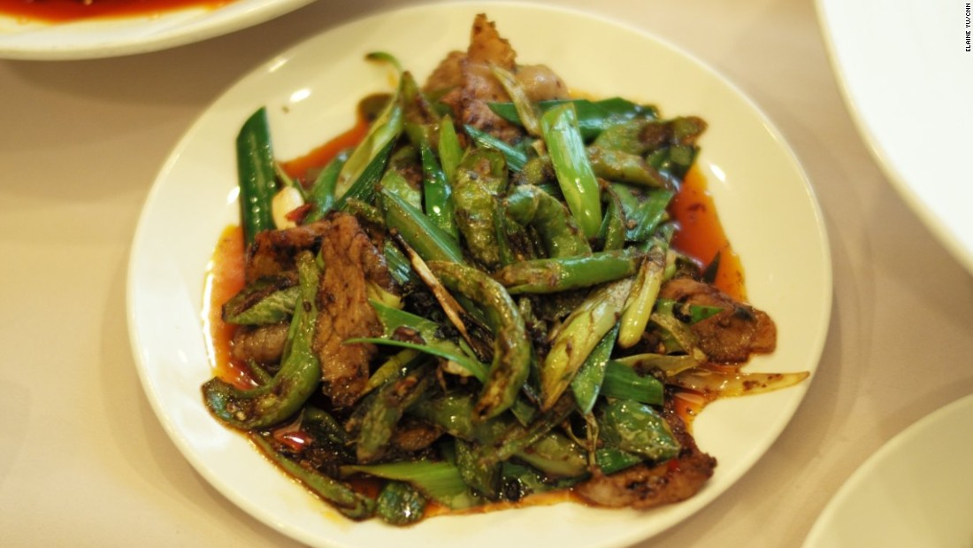 This homely stir-fry of sizzling pork is first boiled, then sliced and fried.