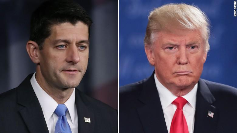 Paul Ryan says he won't defend Trump