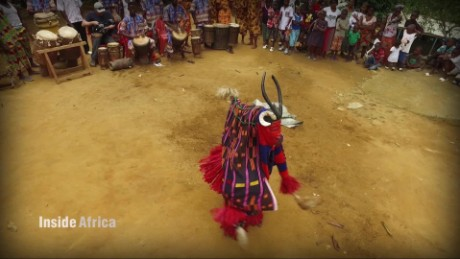 Spirit meets human in this sacred mask dance