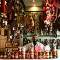 Meat-delicatessen-in-the-Vegetable-and-meat-market-in-Athens
